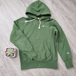Champion Reverse Weave Hoodie Olive Green M